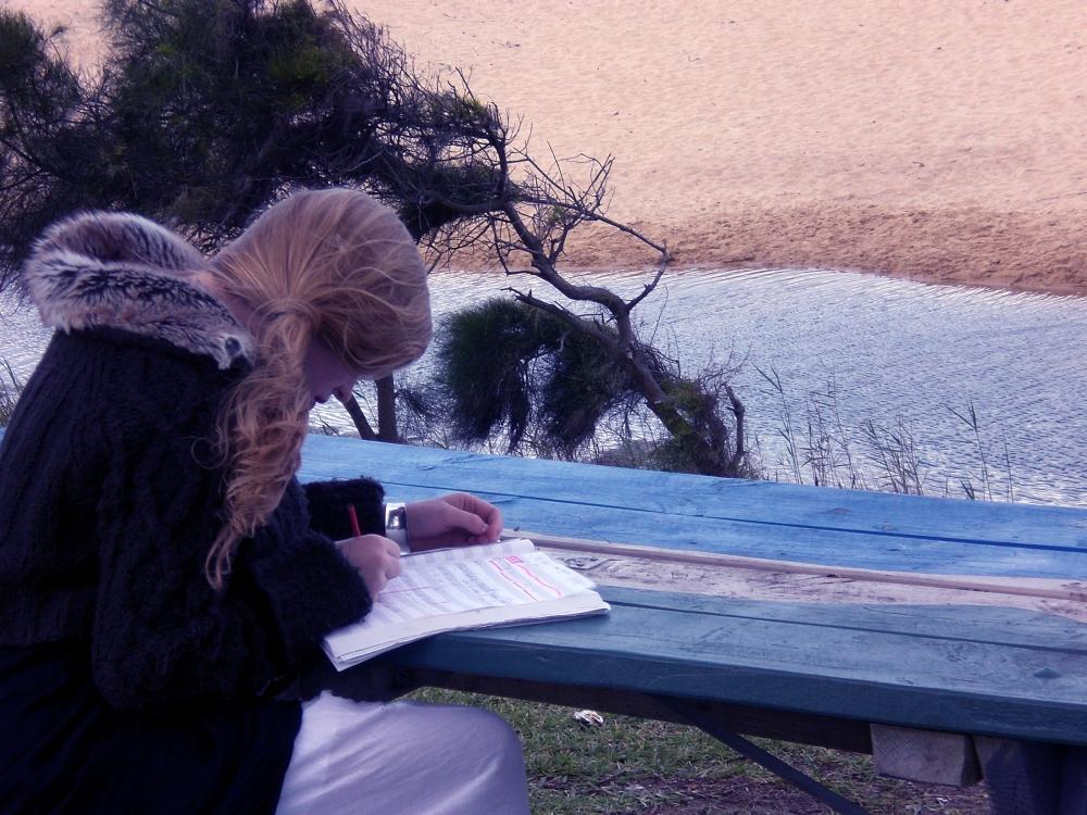 Chloé Charody composing 'Muthafukaz' (2010)