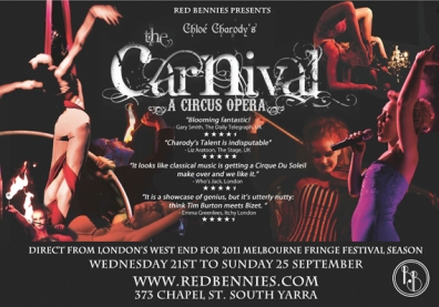 'The Carnival' a circus opera by Chloé Charody | Melbourne 2011